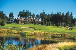Crown Isle Clubhouse at the 18th Fairway