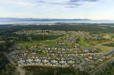 An aerial view of Crown Isle Resort & Golf Community