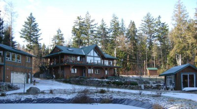 Ocean view home for sale on Quadra Island